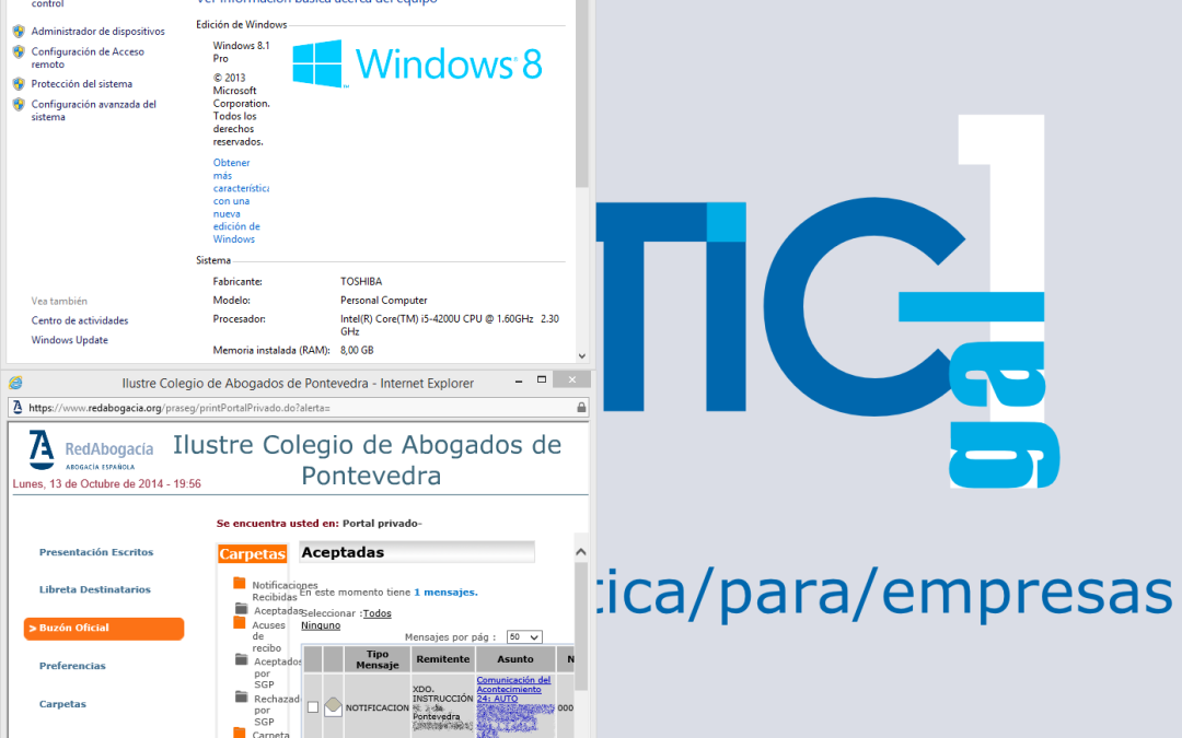¿LexNET en Windows 8? Podemos (incluso en 64 bits)