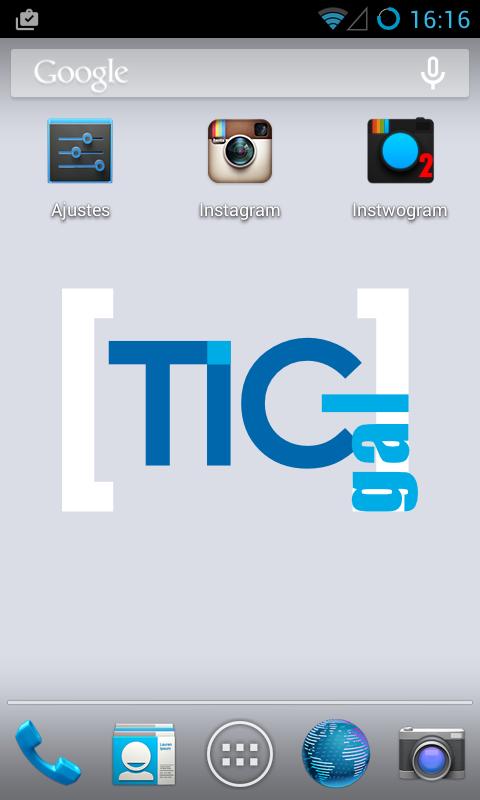 dúas contas instagram nun móbil