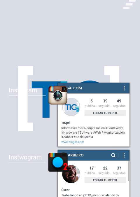 Como xestionar dúas contas Instagram no mesmo dispositivo móbil