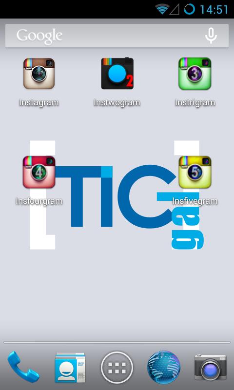 5 Instagrams 1 smartphone