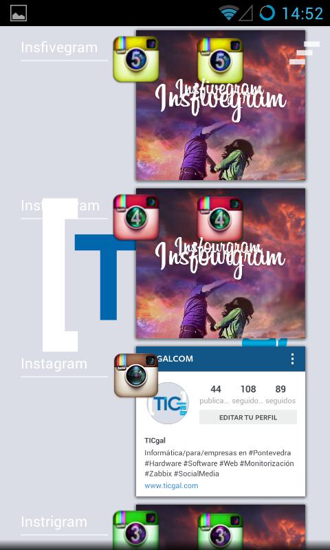 Varias cuentas de instagram en un móvil android - task manager