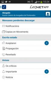 LexnetApp en Android en Galego
