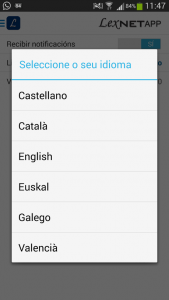 LexnetApp es multiidioma