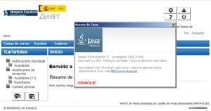 LexNET Java 8 update 71 Java8u71