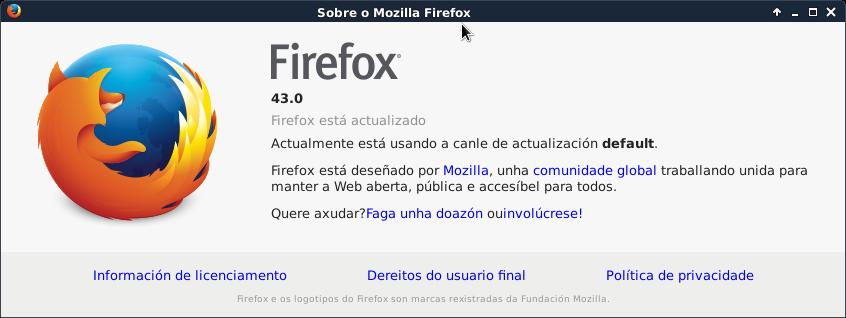Firefox 43.0 en Debian