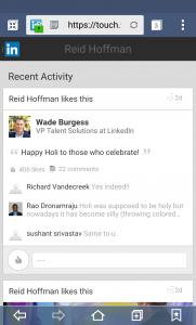 Linkedin actualizaciones contacto red profesional