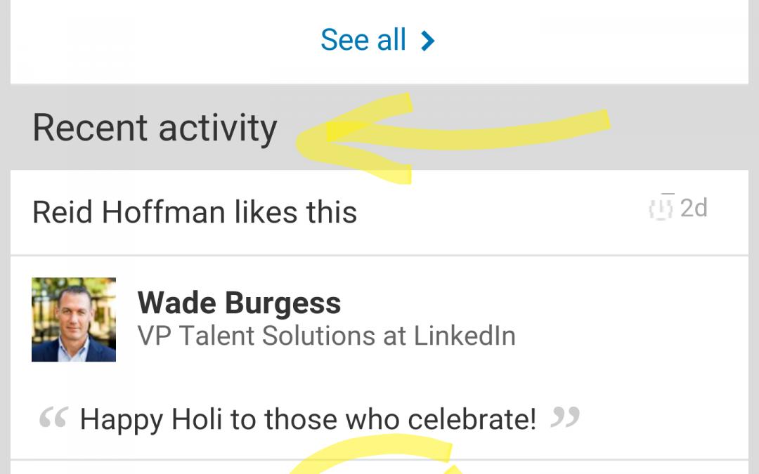 Como ver las actualizaciones de LinkedIn de un contacto