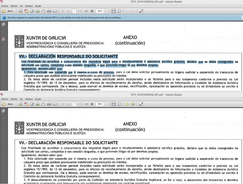 PDF vs PDF/A con OCR