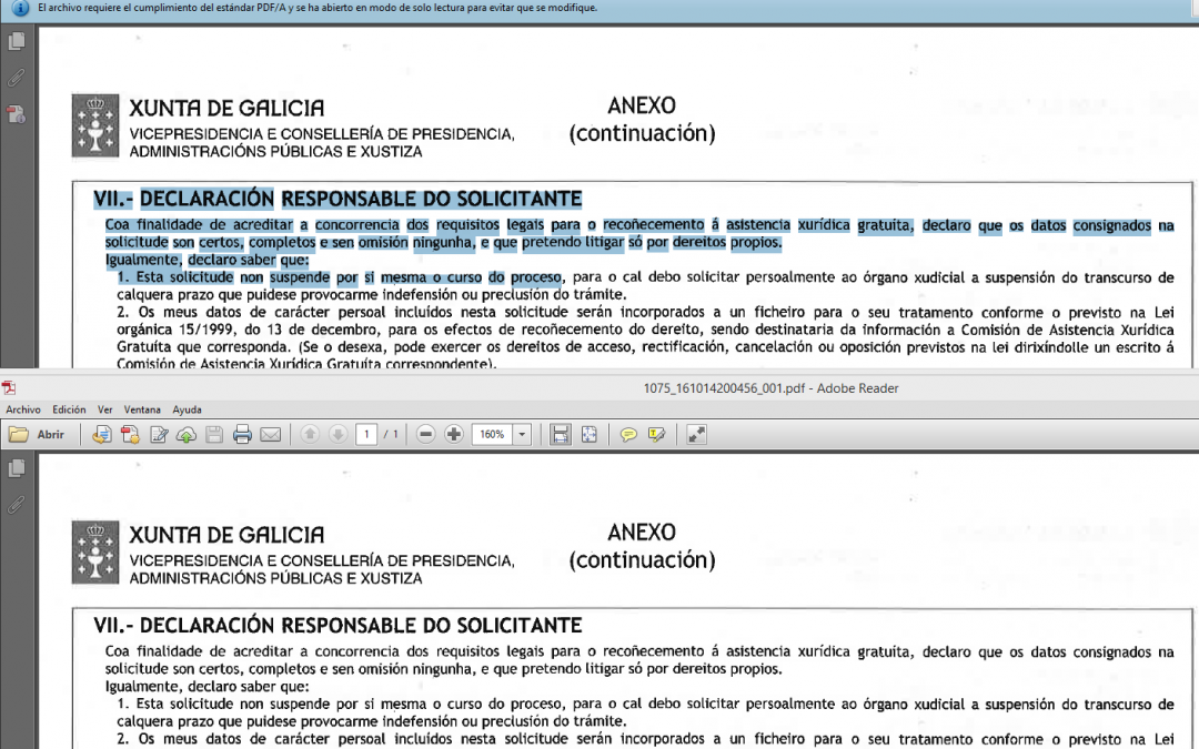 PDF vs PDF/A buscable con OCR